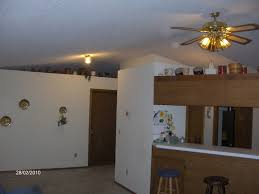 see the tiny globe light and the terrible 80 s ceiling fan all on the vaulted ceiling