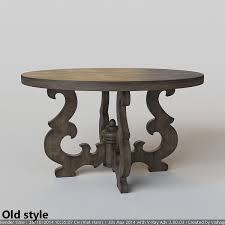 french country round dining table 3d model max fbx 4