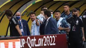 انسحاب منتخب الأرجنتين من مباراته أمام البرازيل بعد تدخل وزارة الصحة لإخراج  زملائهم من الملعب