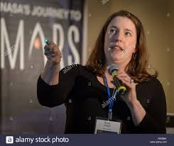 Briony Horgan, Purdue University, speaks during the First Landing Stock  Photo - Alamy