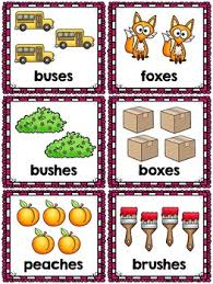 Singular And Plural Nouns Chart Singular And Plural Nouns Sort Pocket Chart Activities For S Es And Ies Suffixes