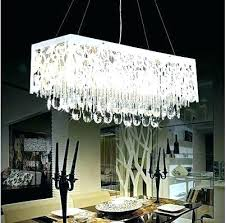 crystal chandelier dining room rectangle chandeliers for rectangular table unique modern linear crystal chandelier dining room