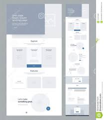 One Product Website Design One Page Website Design Template For Business Landing Page