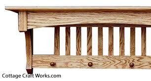 "Mission Style Coat Rack Shelf Awesome Arts And Crafts Mission Style 32"" Wall Shelf Coat Rack"