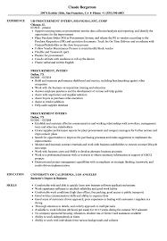 Purchase Resume Samples Procurement Intern Resume Samples Velvet Jobs