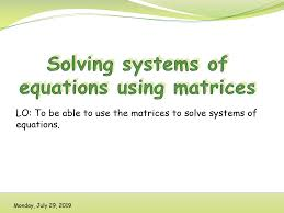1 45 solving systems of equations using