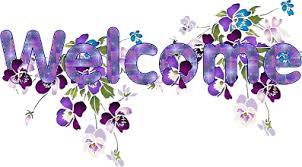 Welcome Purple Purple Welcome Image