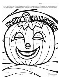 Small Picture Color By Number Coloring Pages At Halloween By Number Pages