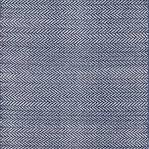Herringbone Swedish Blue Cotton Woven Rug Dash and Albert