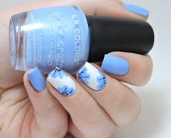 Blue Flower Nail Designs Nailstorming Spring Trendy Nails Nail Designs Flower Nails