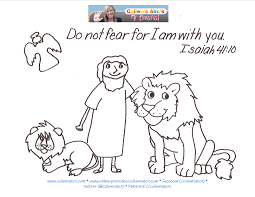 Small Picture Daniel and the Lions Den Bible Memory Verse Coloring Page