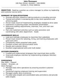 Objective Summary Resume Retail Store Manager Resume Objective Summary Of Qualifications 39