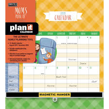 easy calendars calendarsdotcom calendars moms plan it plus wall calendar with 442 event reminder stickers easy to glance rakuten com
