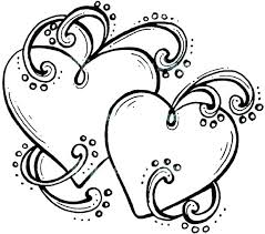 Hearts With Wings Coloring Pages Heart Coloring Pages With Wings