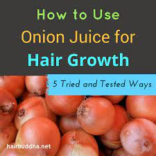 onion juice for hair growth rich in