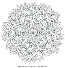 coloring book flowers pattern with abstract flowers coloring book page for coloring book flowers printable
