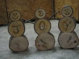 Log Crafts Homemade Wooden Log Snowmen 10 Steps With Pictures