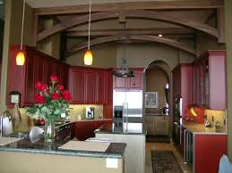 paint color for kitchen cabinets with hanglamp
