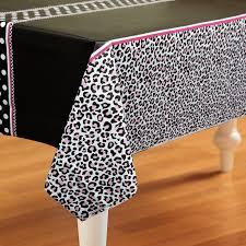 Leopard Print Party Decorations Diva Zebra Print Plastic Tablecover Birthdayexpresscom
