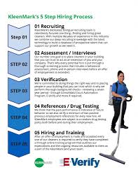 steps that help hire more amazing cleaners s 5 step hiring process