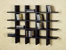 black painted wall bookshelves hang on beige wall color for inspiring handmade bookcase