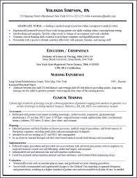 Entry Level Registered Nurse Resumes Entry Level Nursing Resume