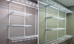 shelf bracket wall pics of series 4 ft adjule mount wire shelving rubbermaid brackets shelves instructions
