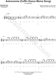 The kalimba/ mbira is an african musical instrument consisting of a wooden board (often fitted with a resonator) with attached staggered metal tines, played by holding the instrument in the hands and plucking the tines with the thumbs. Kalimba Tree Astronomia Coffin Dance Meme Song Sheet Music In C Major Download Print Sku Mn0211465