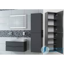graphite modern bathroom double door wall cabinet mauricio