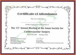 Perfect Attendance Certificate Template Linkinpost Com