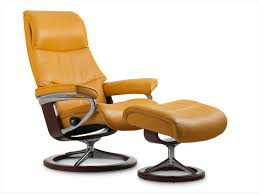 Stressless View Leather Recliner & Ottoman—Best Price line