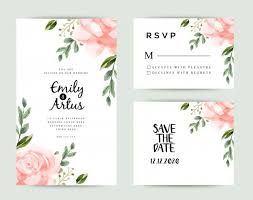 Save The Date Cards Template Save The Date Wedding Invitation Cards Template Vector