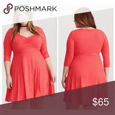 Nwt Jersey Knit Skater Dress Torrid Size 3 Per Their Size