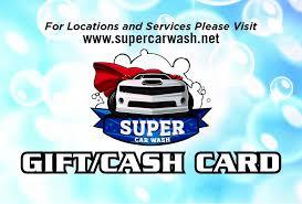 cash cards super car wash gift