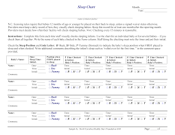 Sleep Chart Template Baby Sleep Chart Templates At Allbusinesstemplates Com