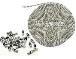 100m 2.4/3.2/4/4.5/<b>6mm</b> Stainless Steel Bead Necklace Ball Chain + ...
