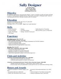 Fashion Designer Resume Resume Templates