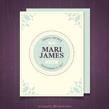 Free Invitation Template Downloads Gorgeous Bridal Shower Invitation Template With Blue Decoration Vector Free