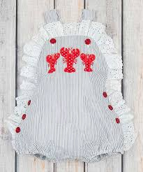 Stellybelly Size Chart Stellybelly Navy Stripe Lobster Olivia Bubble Romper Infant Toddler