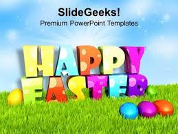 Christian Multi Color Design For Happy Easter Wishes Ppt