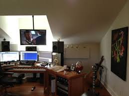 1000 images about trading room on pinterest monitor desk setup and home office basement office setup 3 primary