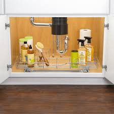 lynk professional u shaped roll out under sink drawer pull out under cabinet