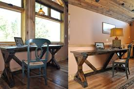 rustic office desk. Easy-to-build-desk Rustic Office Desk
