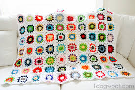 Colorful Squares Crochet Quilt - One Dog Woof &  Adamdwight.com