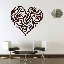 love heart swirl romantic wall art for bedroom valentine days decor sticker gift design amazing removed on wall art heart designs with wall art design ideas love heart swirl romantic wall art for
