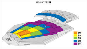 Nokia Center Seating Chart Thorough Nokia Theatre Seating Chart View Microsoft Theatre