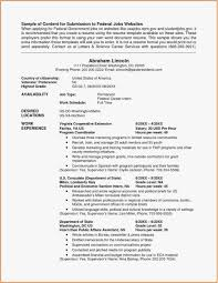 Federal Style Resume New Resume Template Samples Nanny Resume Sample
