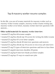 Masonry Resume Template Top10000masonryworkerresumesamples10000lva100app61000092thumbnail100jpgcb=10010033551000010065 61