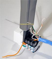 how to install an ethernet jack for a home network punching down the first wire cat5e ethernet jack