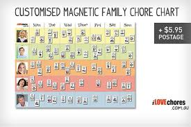 Customised Magnetic Family Chore Chart With 150 Magnets